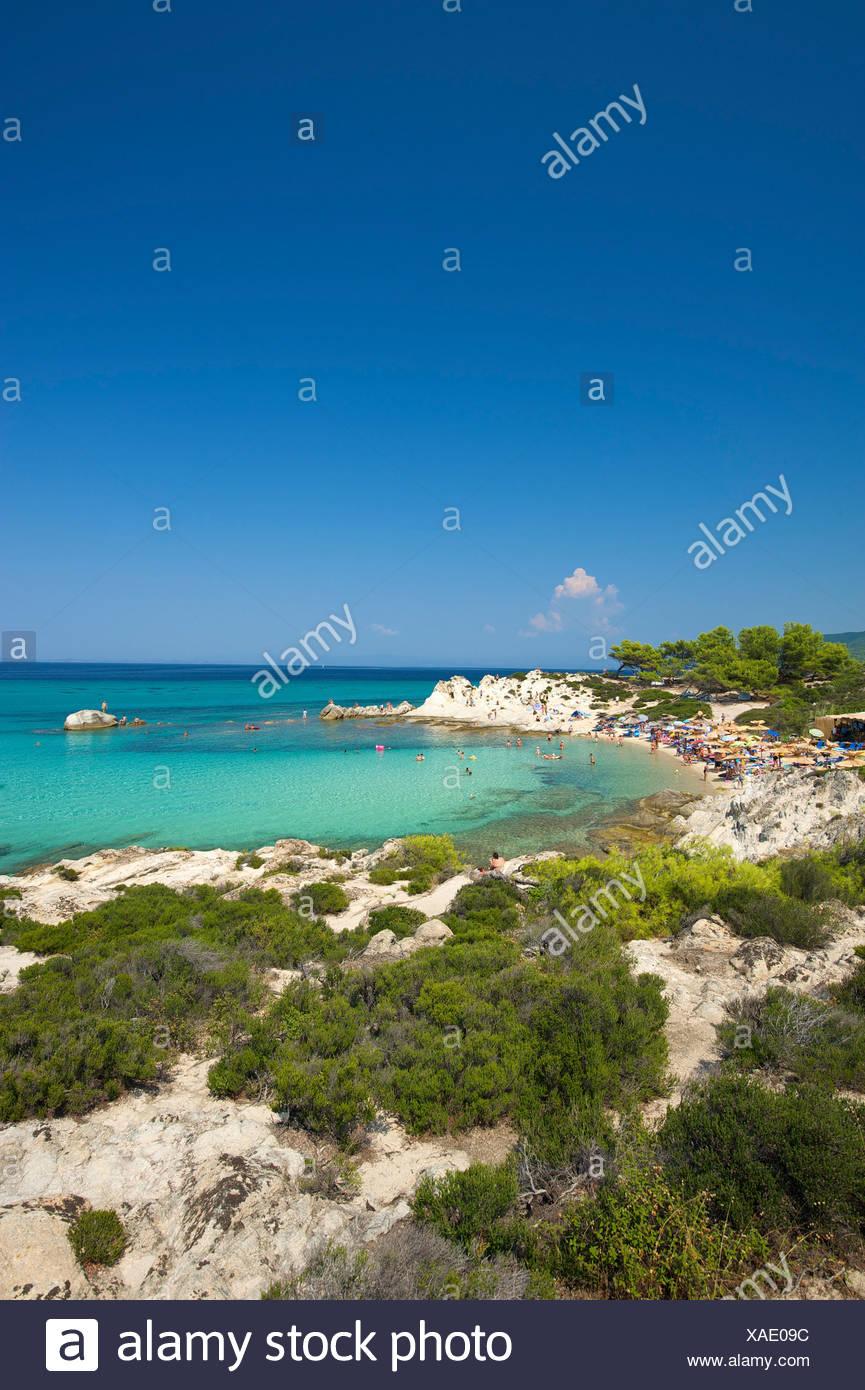 Coast, Portokali Beach, Kavourotypes, Sithonia, Halkidiki, Greece, Europe Stock Photo