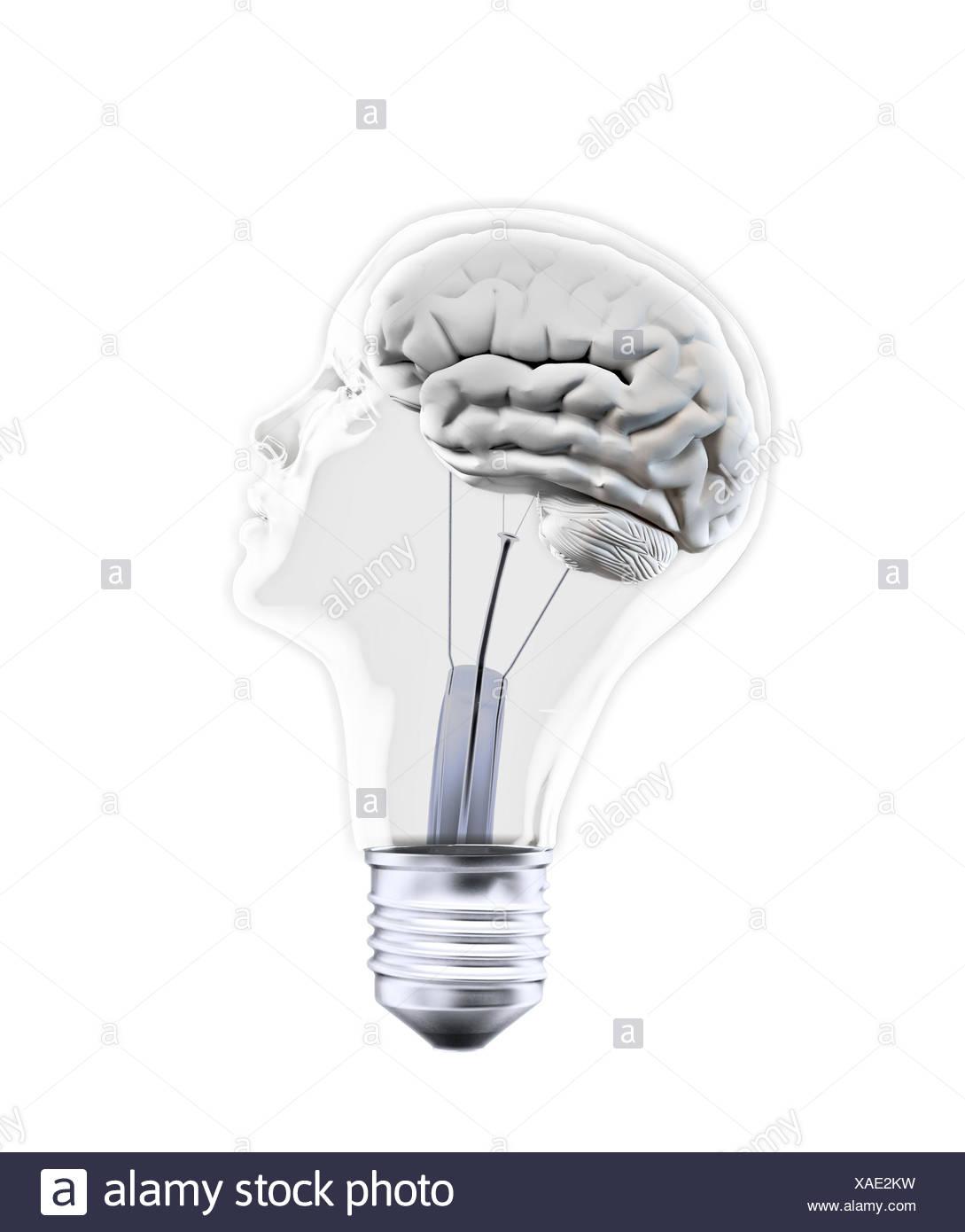 Creativity, conceptual artwork - Stock Image