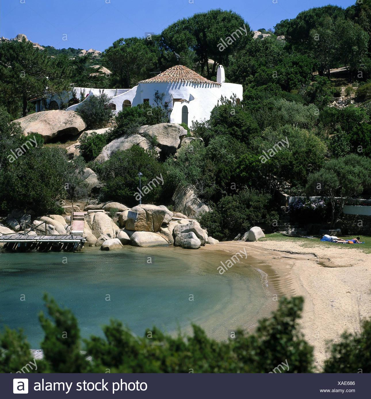 Italy, Sardinia, province Sassari, Palau, postage Rafael, bay ...