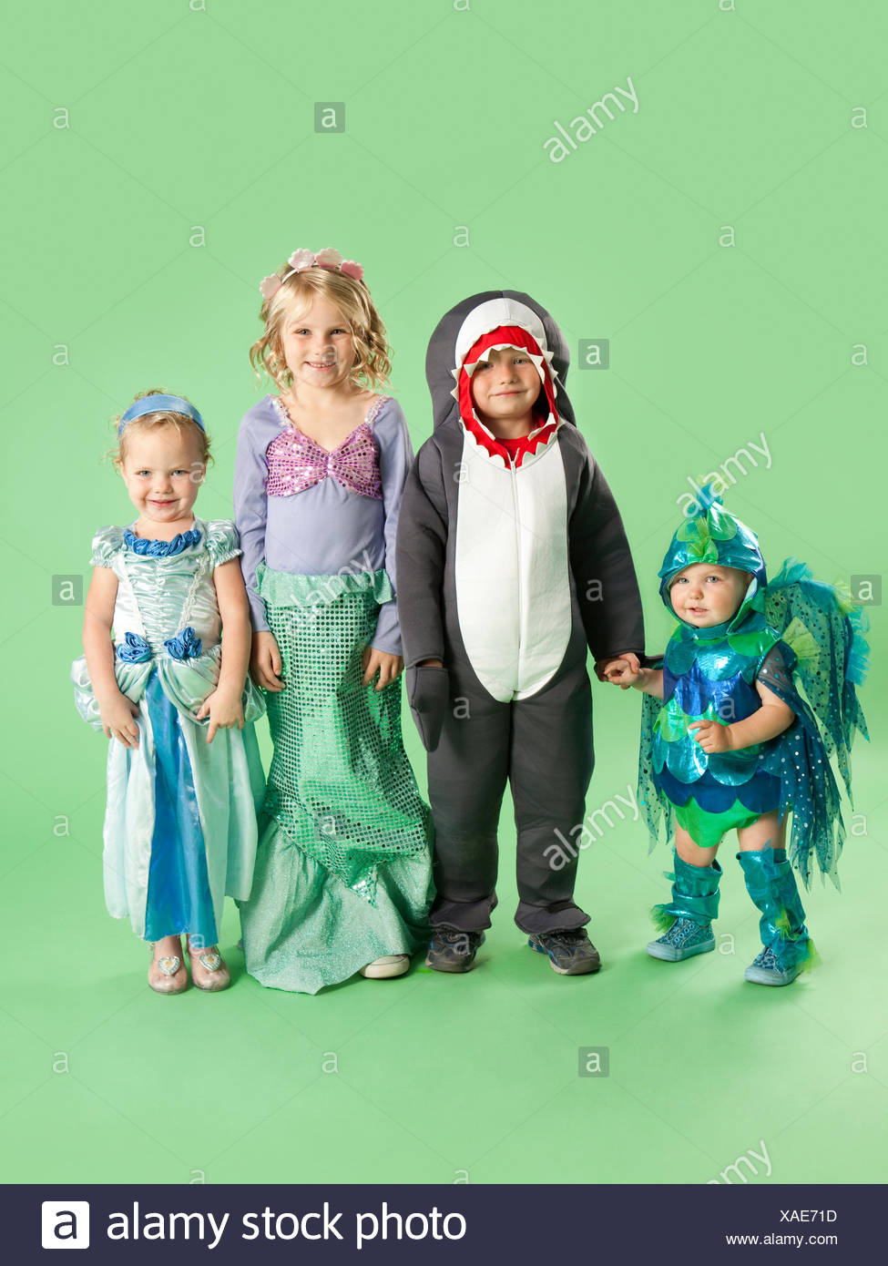 Portrait of children (12-17 months) and (2-7) in  sc 1 st  Alamy & Fish Costumes Stock Photos u0026 Fish Costumes Stock Images - Alamy
