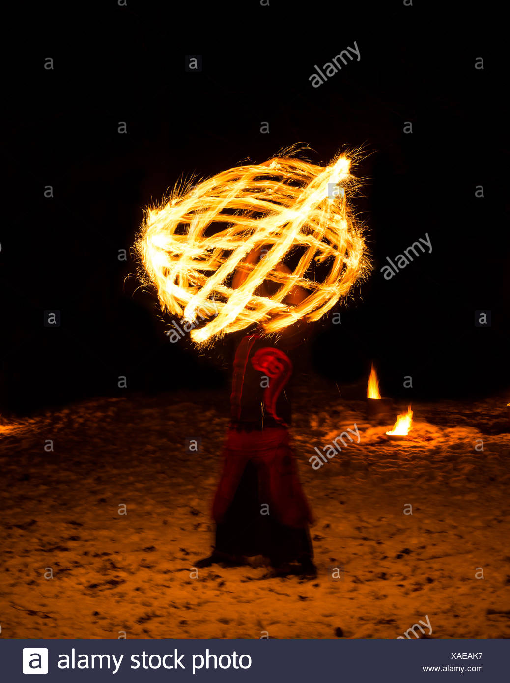fire games - Stock Image