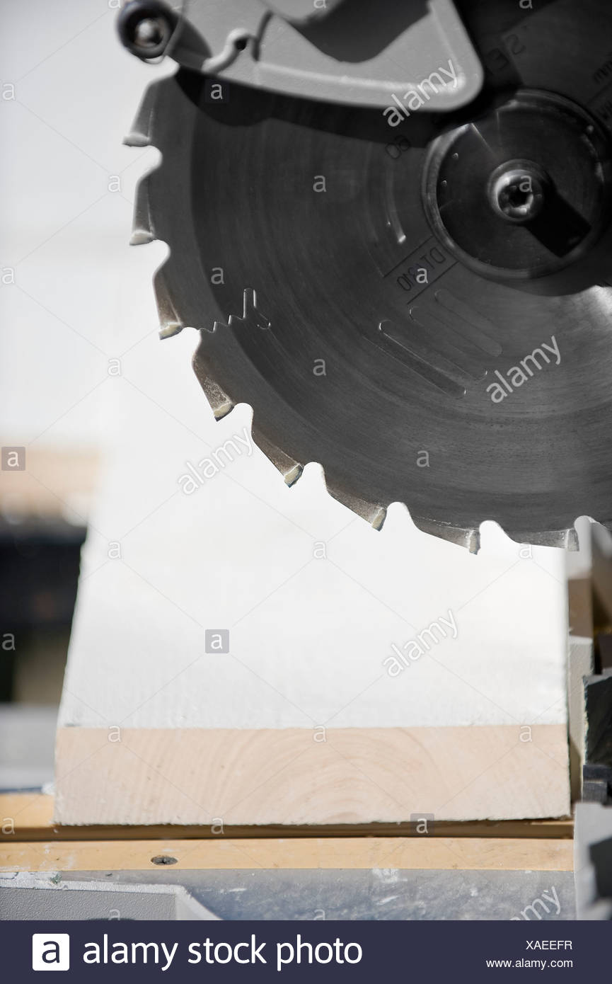 Extreme close-up of saw blade - Stock Image