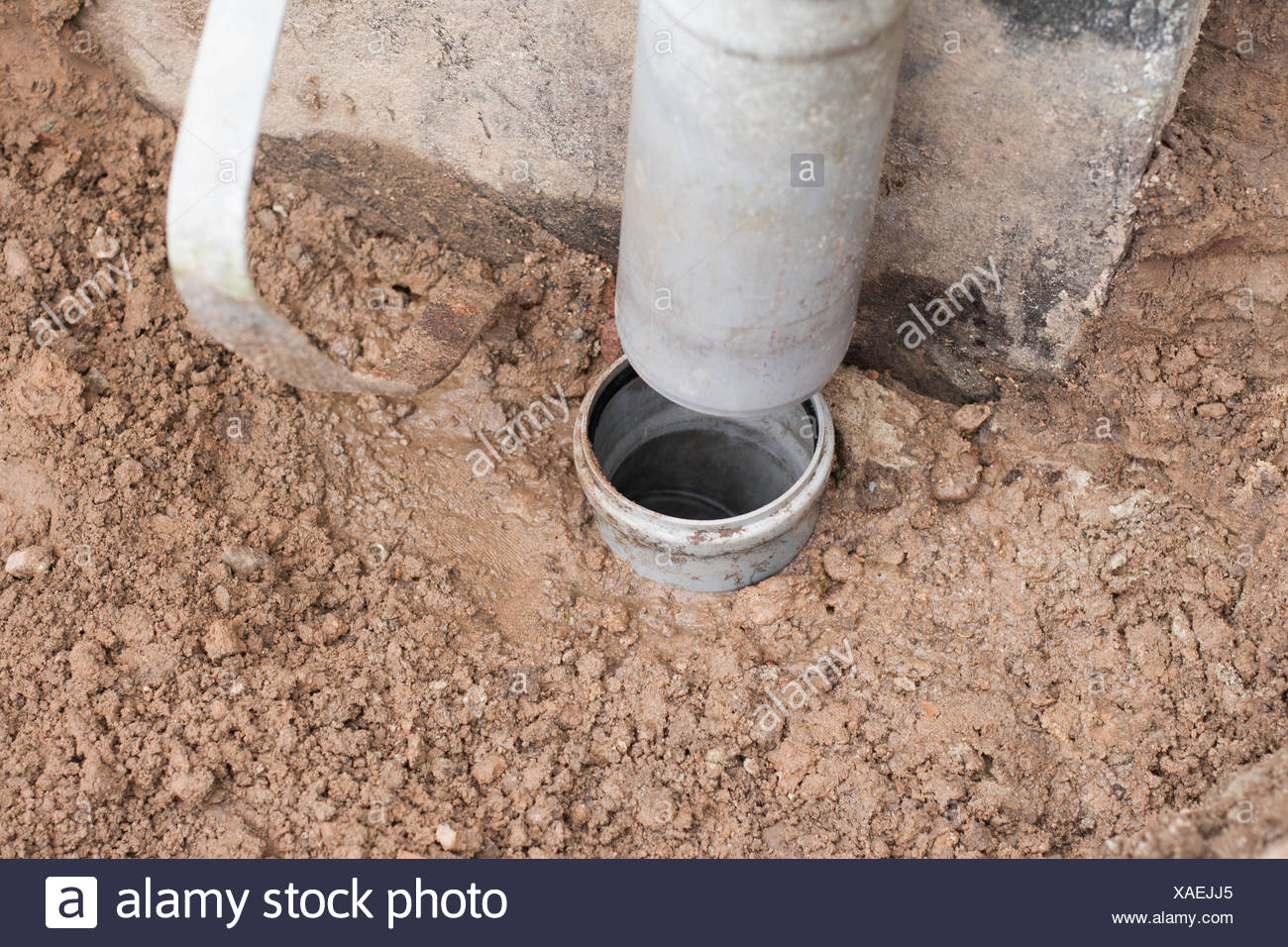 Down pipe - Stock Image