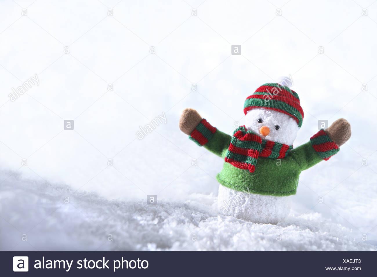 Snowman, decorative item - Stock Image