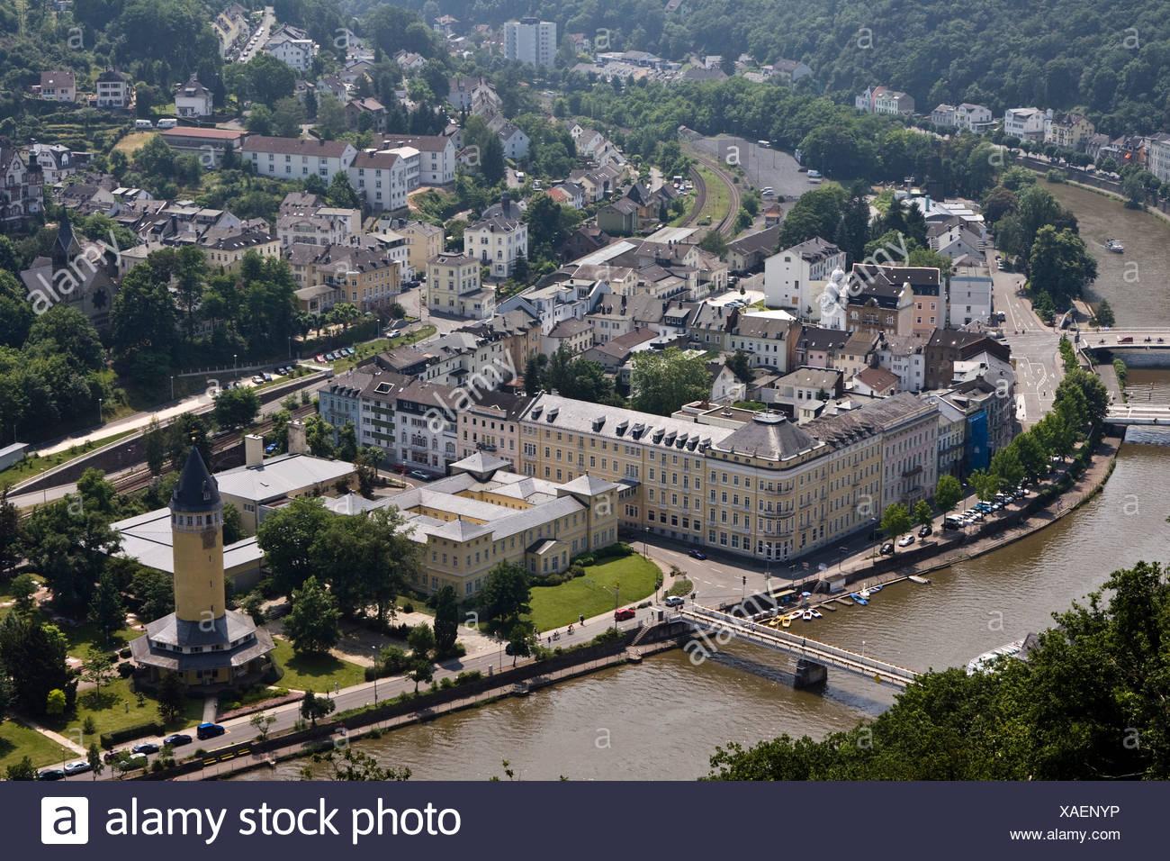 Statistisches Landesamt, Statistical Regional Office, Bad Ems, Rhineland-Palatinate, Germany, Europe - Stock Image