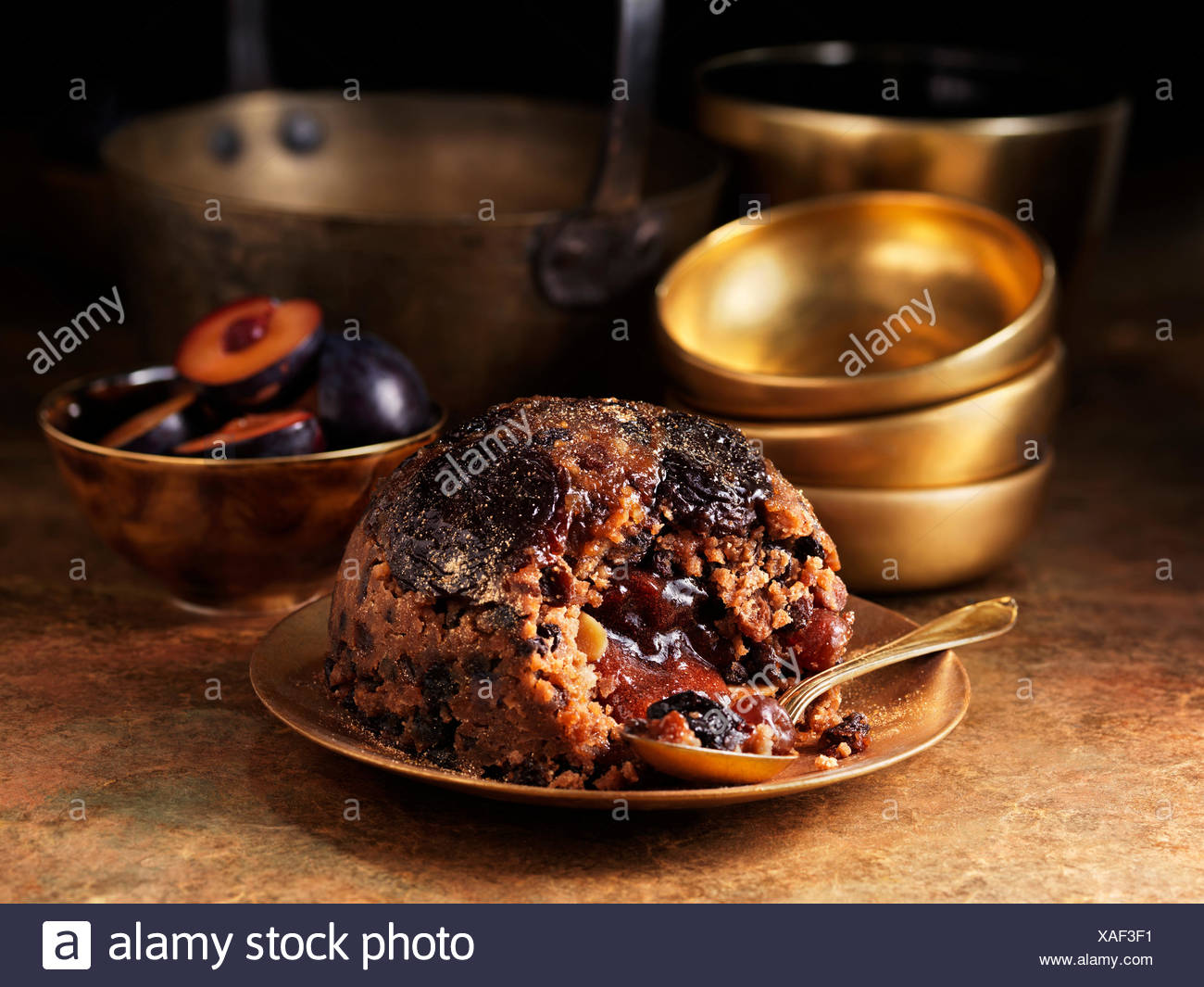 Sugar plum pudding - Stock Image