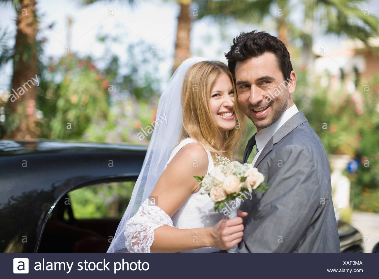 Bridal couple - Stock Image