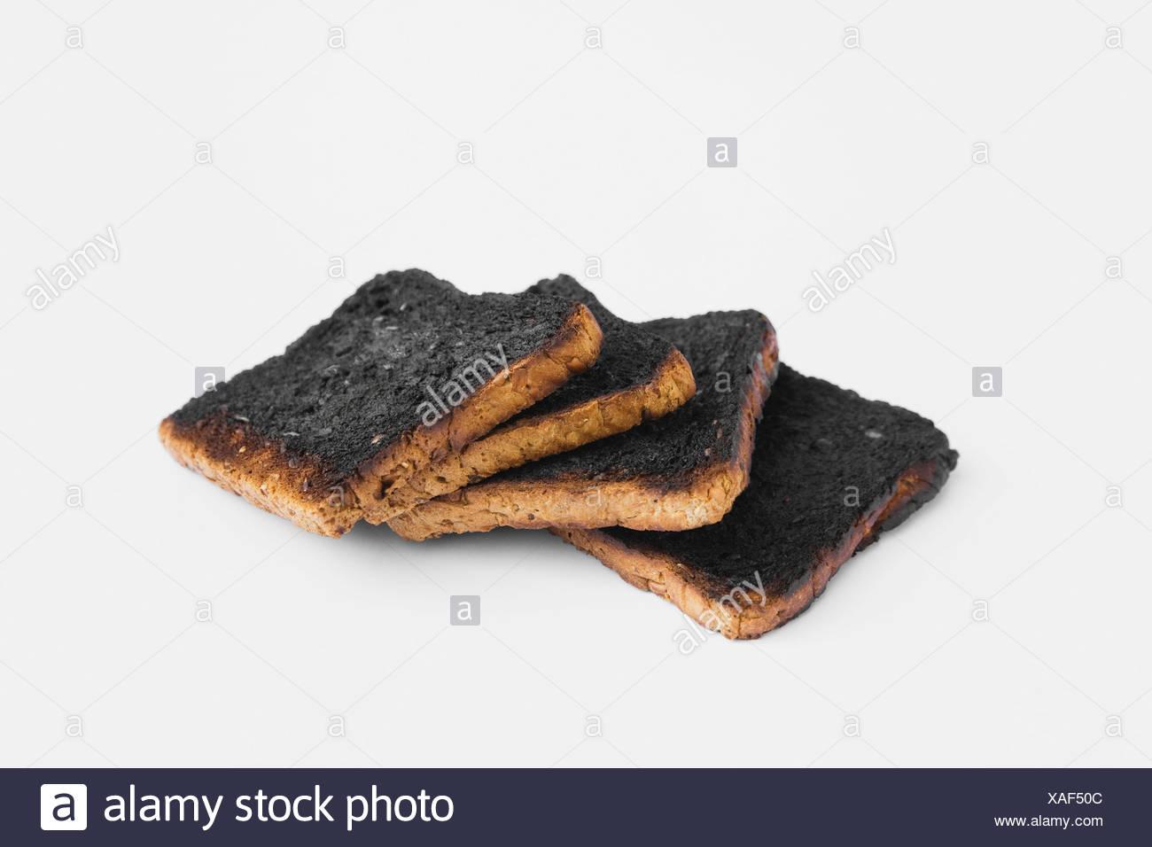 Burnt toast slices - Stock Image