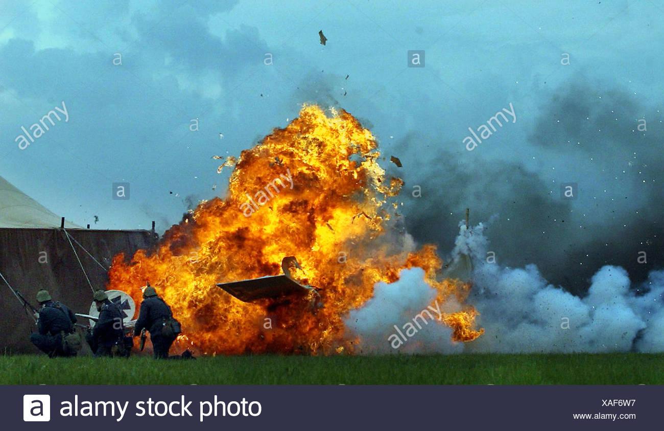 Accident at Aeronautics Fair - Stock Image