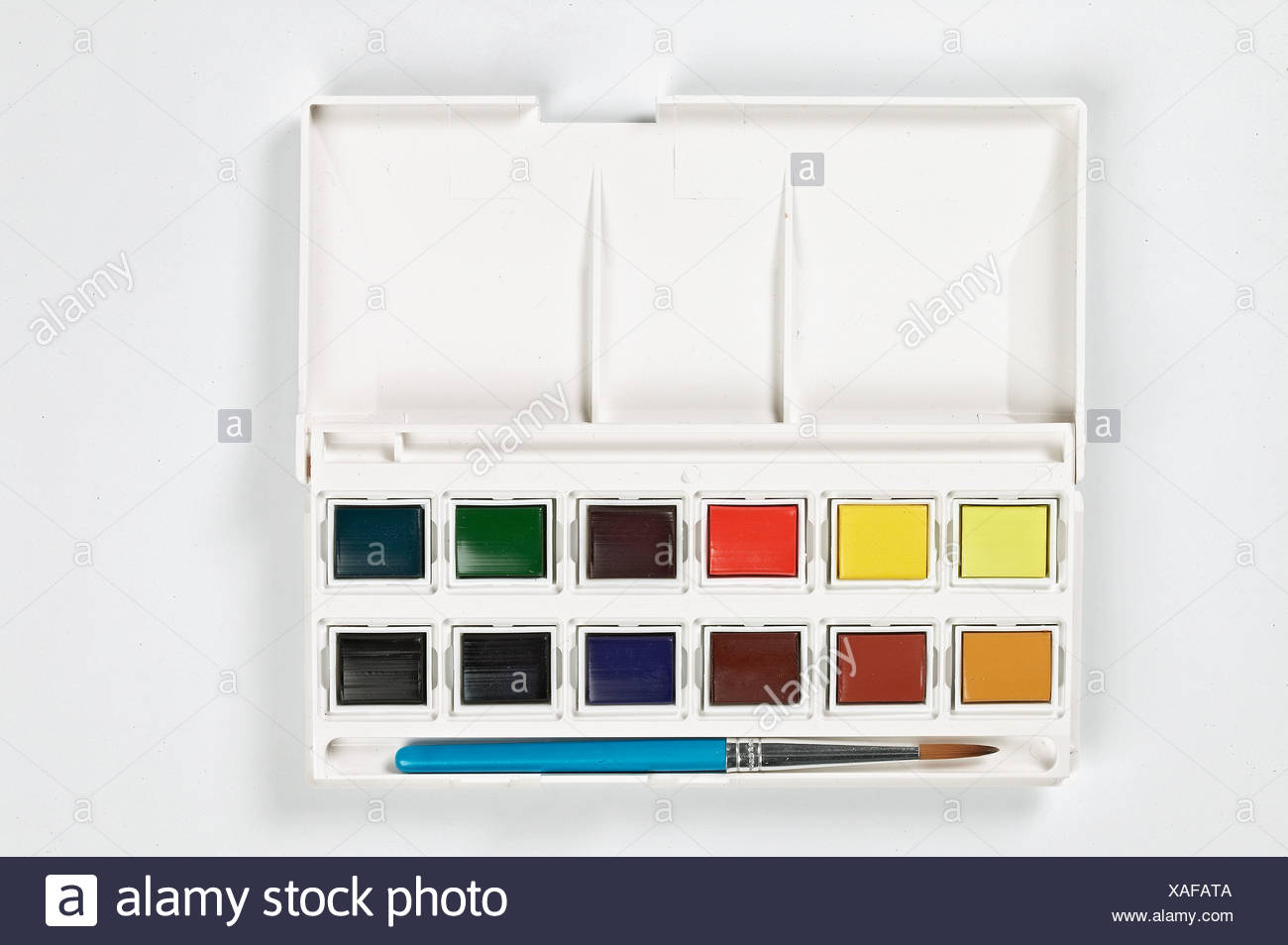 Watercolour paint box - Stock Image