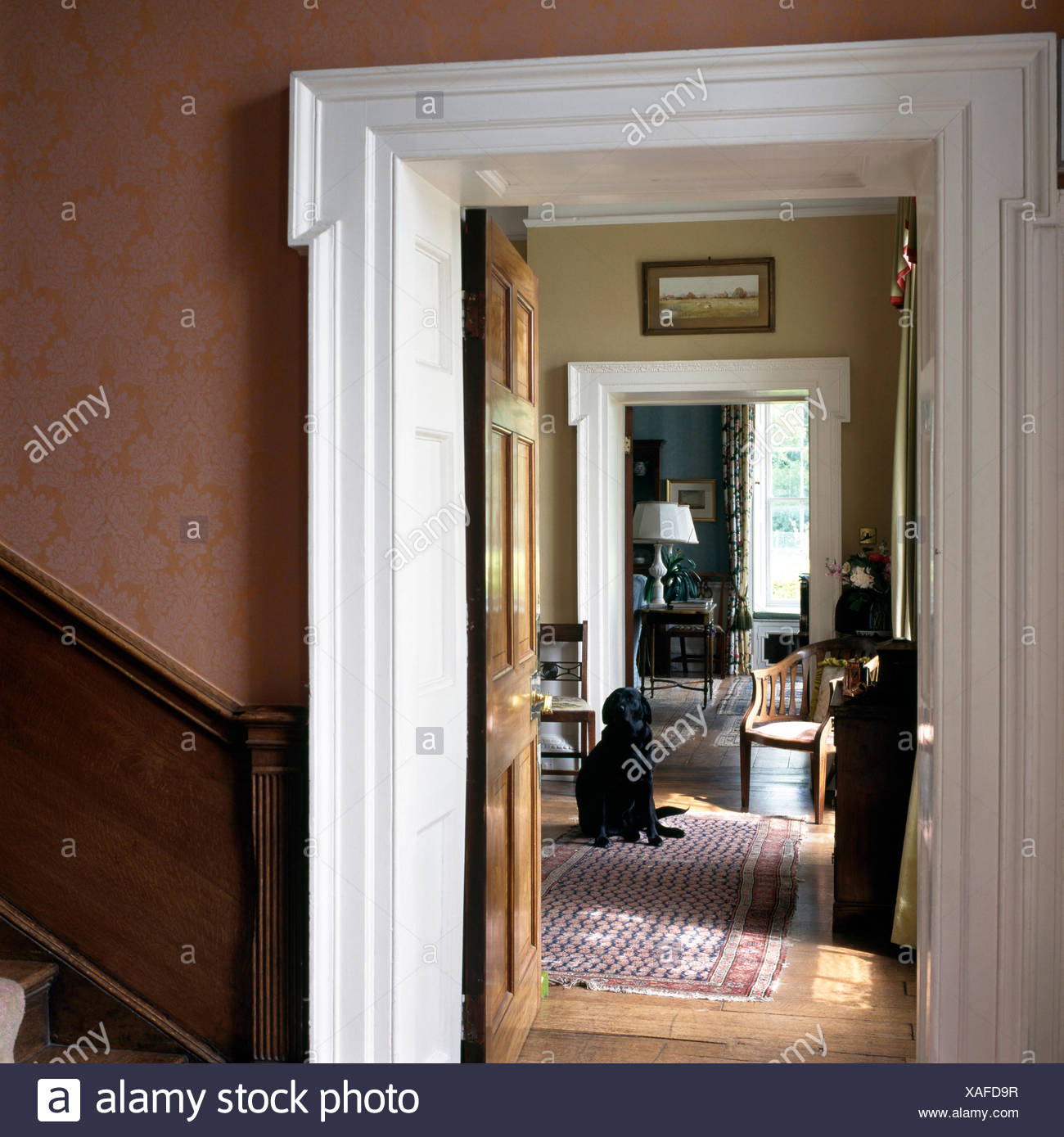 open door drawing clipart traditional country hall with view through open door of black labrador dog sitting in drawing room