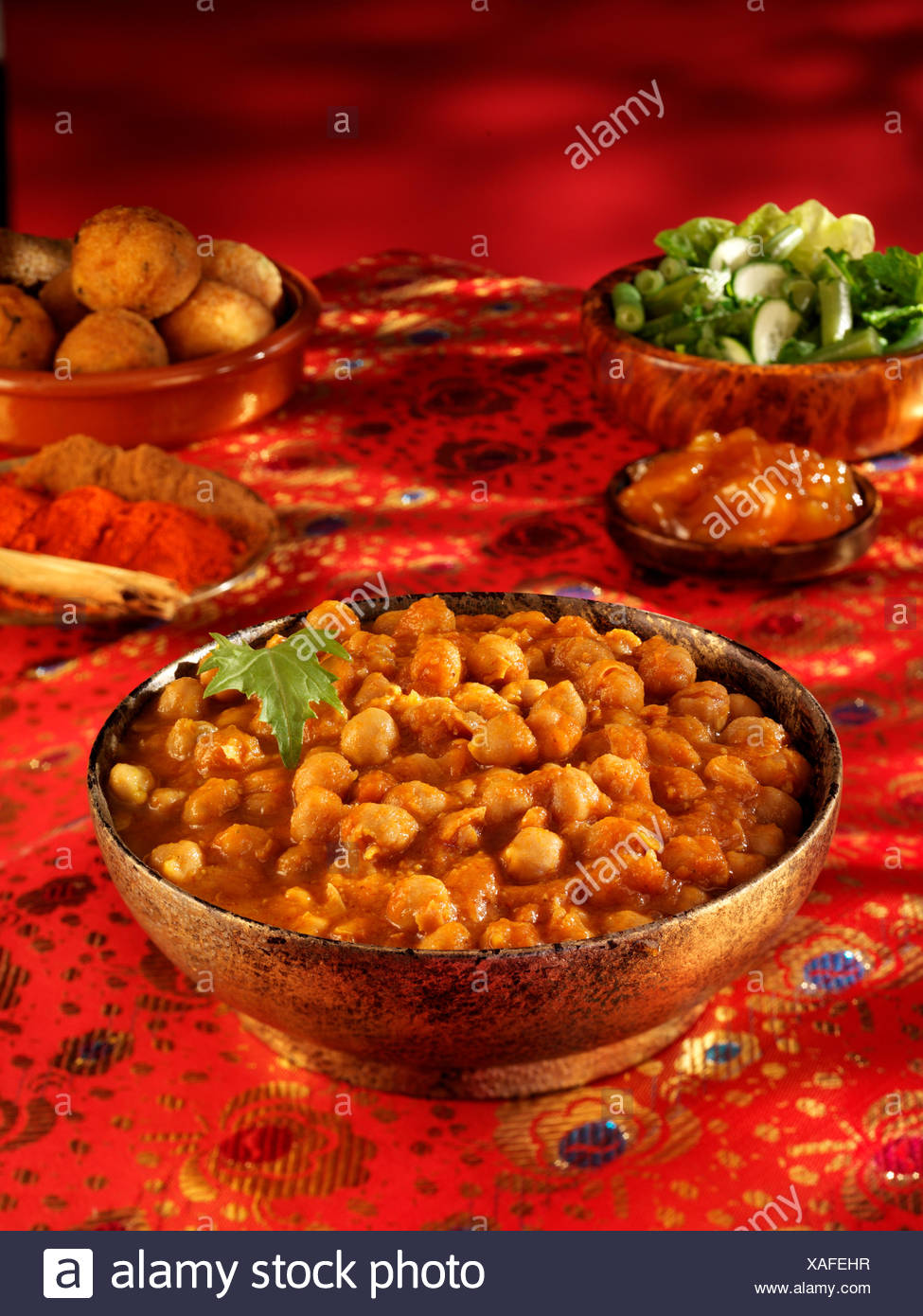 INDIAN CHICK PEA CHOLE - Stock Image
