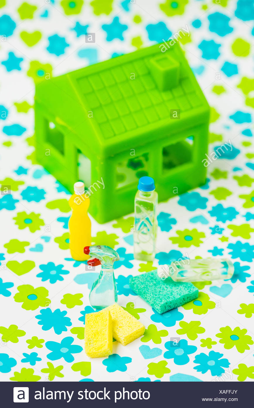 Ecological cleaning products. - Stock Image