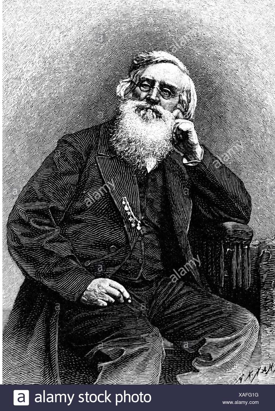 Morse, Samuel, 27.4.1791 - 2.4.1872, American inventor, half length, sitting, wood engraving, 19th century, inventor, - Stock Image