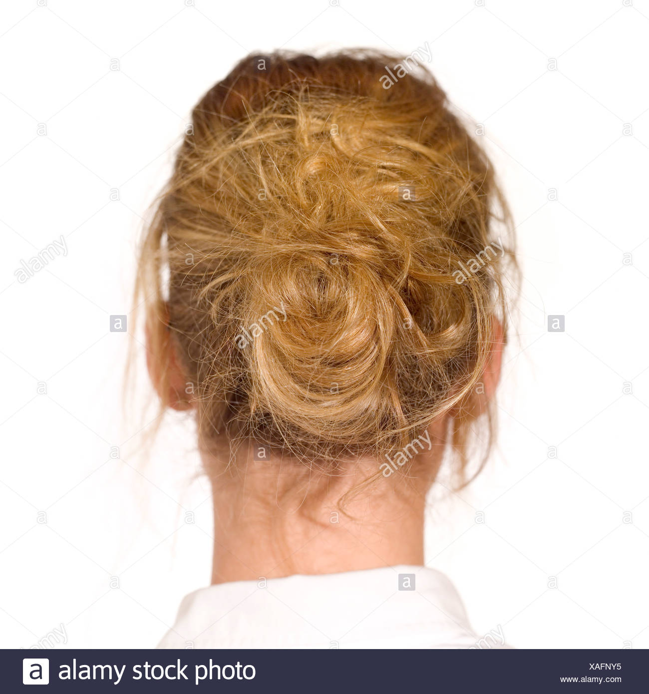Back Of Head And Blonde Hair Cut Out Stock Images Pictures Alamy