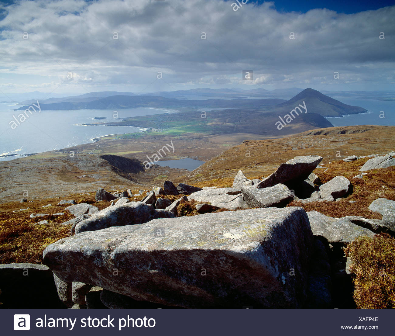 Ireland. County Mayo. Achill Island coast. - Stock Image