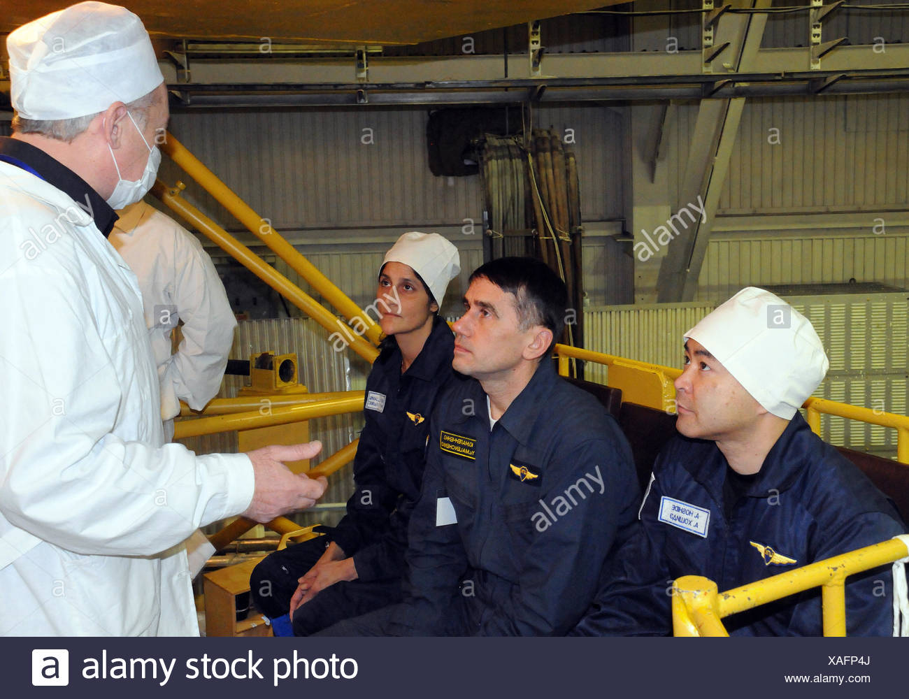 Astronauts Before Fit Check - Stock Image