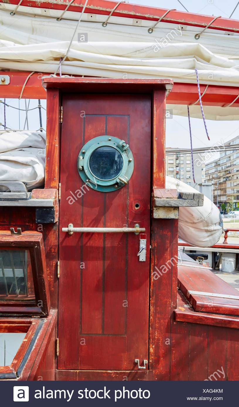 Hatch a sailboat, galleon. Basque Country. Spain Stock Photo