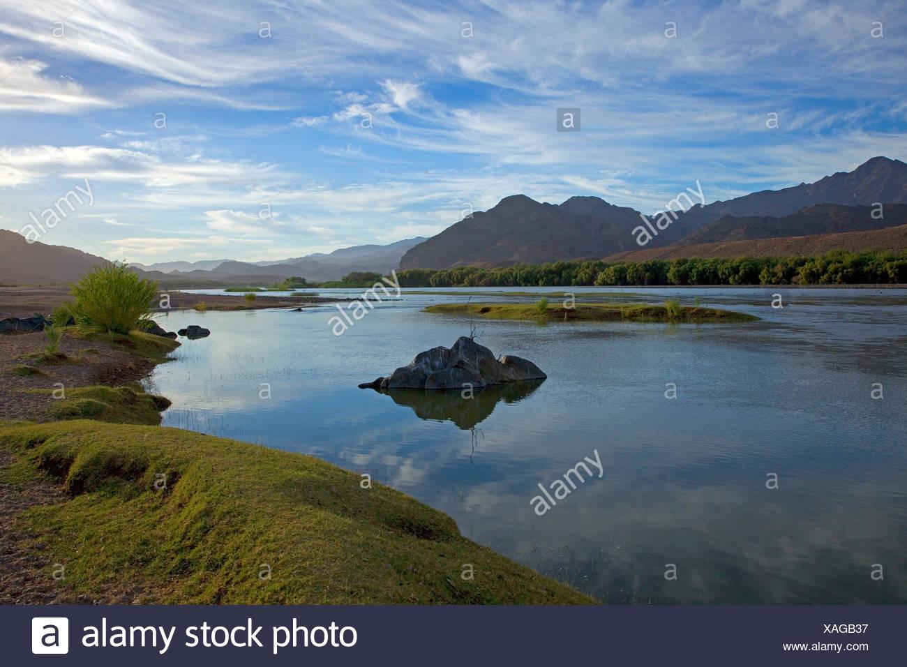 Africa, South Africa, Namaqua, Ai-Ais Richtersveld Transfrontier park, Richtersveld national park, Potjiespram, Oranje, border river, South Africa, Namibia, - Stock Image