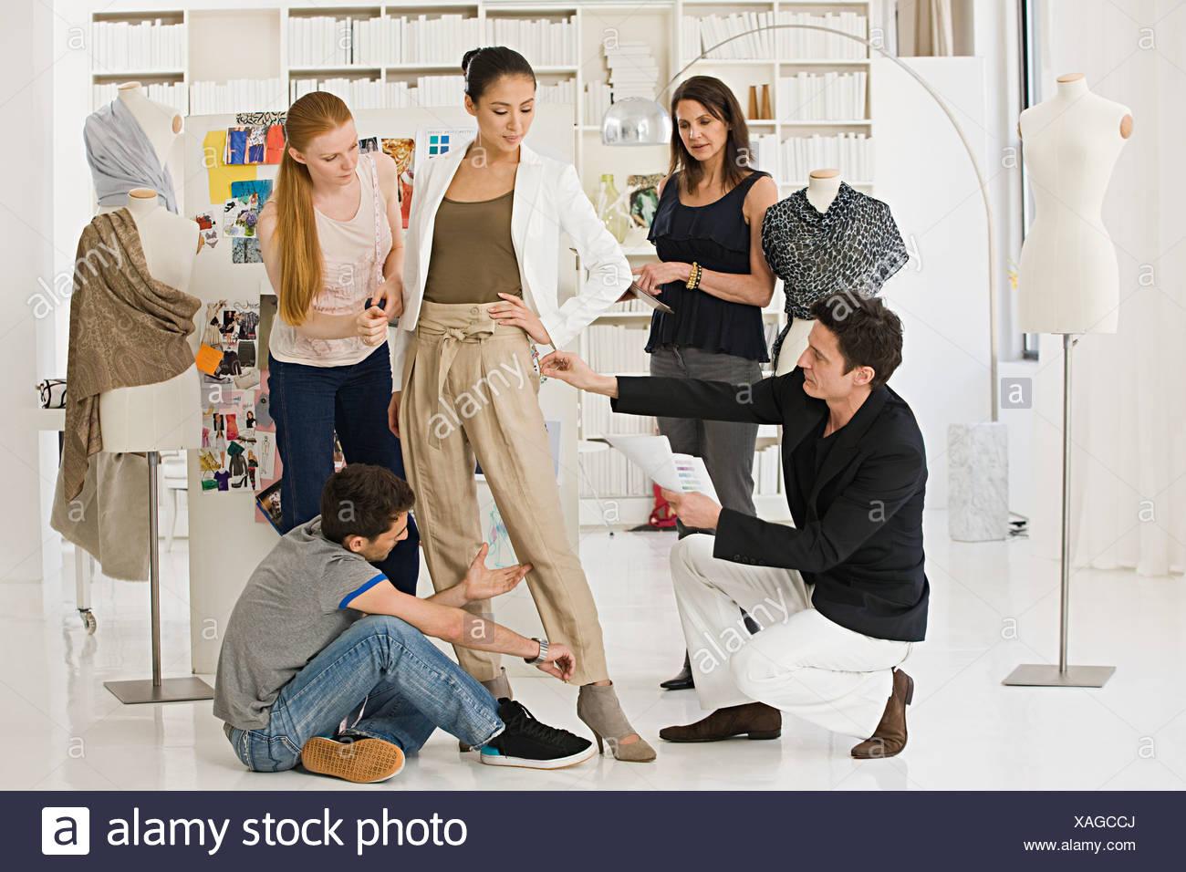 fashion designers at work stock photo 281873442 alamyfashion designers at work