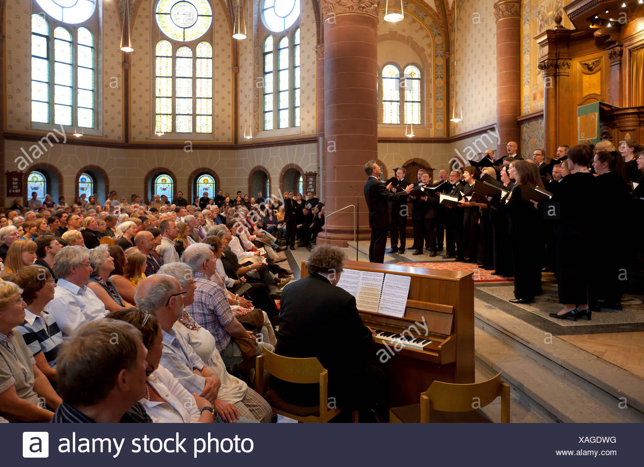Essen, Germany, changing the concerts Hochschulchoere - Stock Image