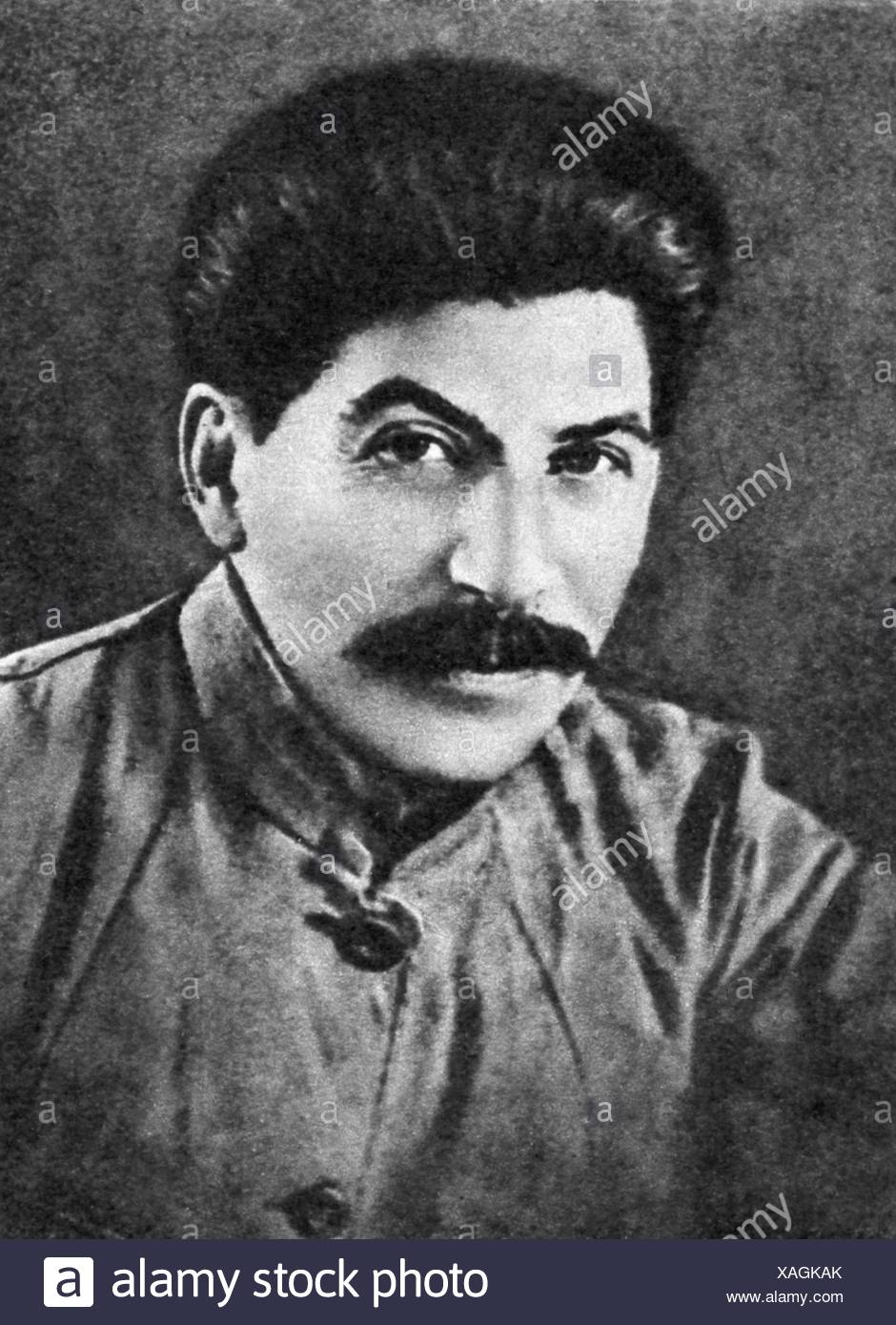 Stalin (Iosif Vissarionovich Jughashvili), 18.12.1878 - 5.3.1953, Soviet politician (CPSU), portrait, 1922, , Additional-Rights-Clearances-NA - Stock Image