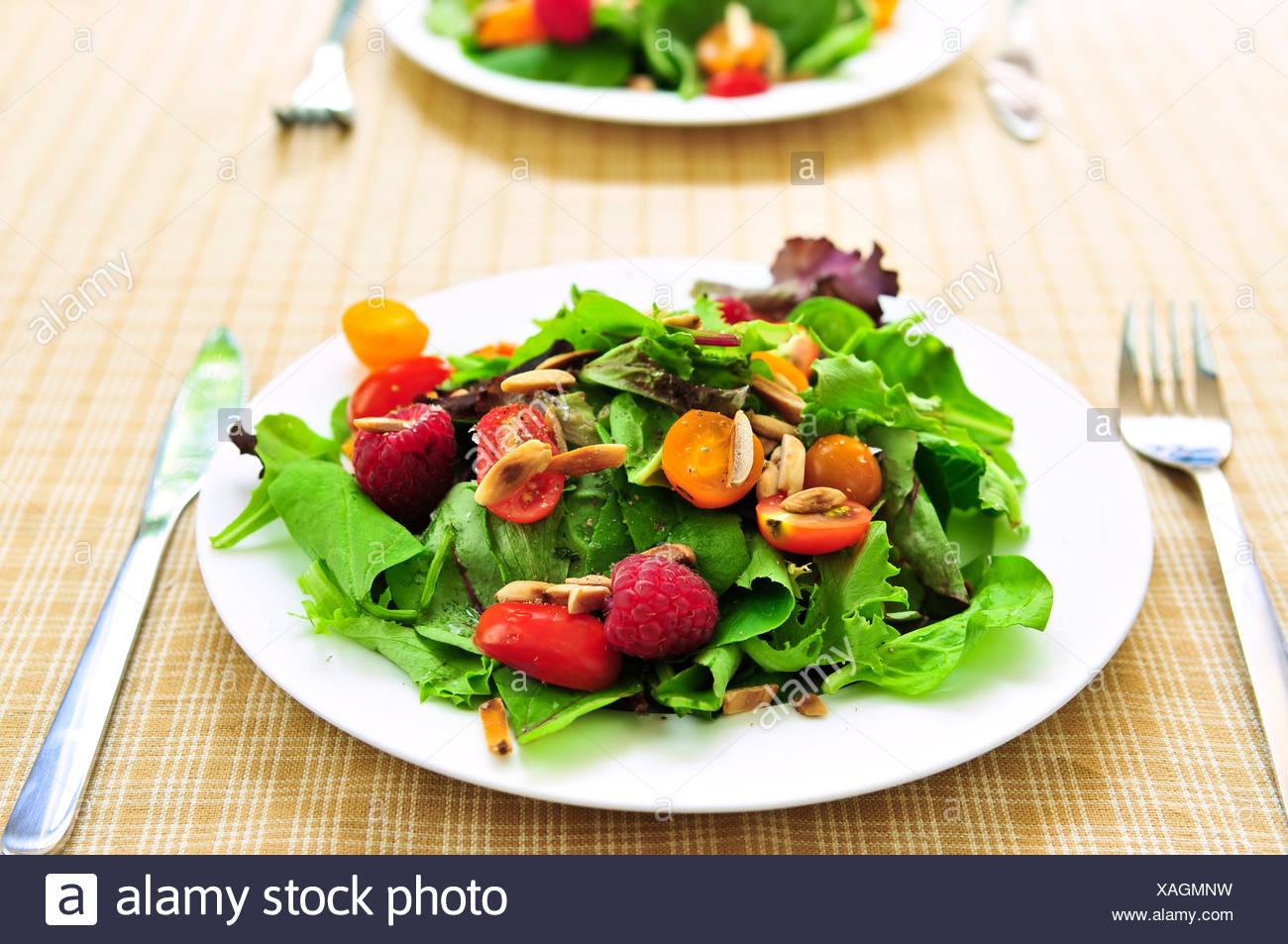 berries food dish - Stock Image