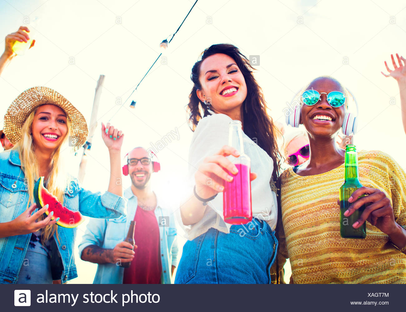 Friendship Celebration Party Beach Summer Concept - Stock Image