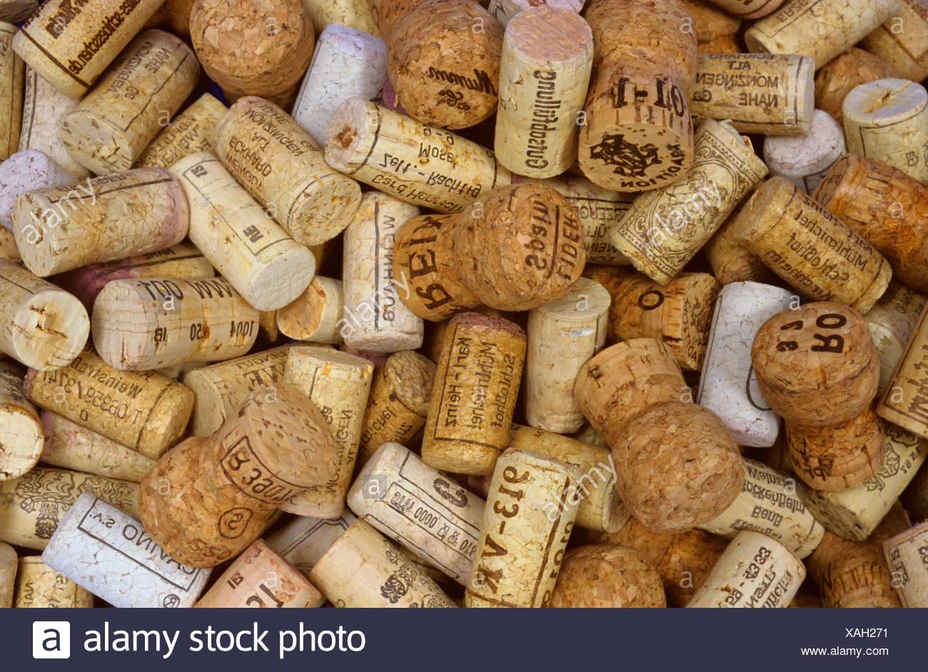 Wine bottle corks - Stock Image