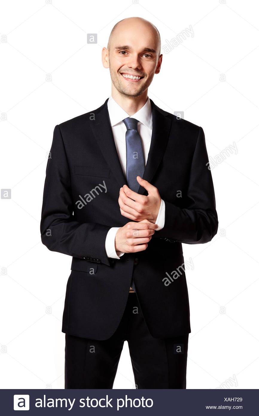Elegant Smiling Man - Stock Image