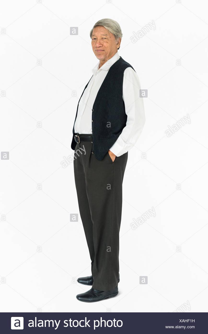 People Man Full Body Studio Shoot Concept - Stock Image