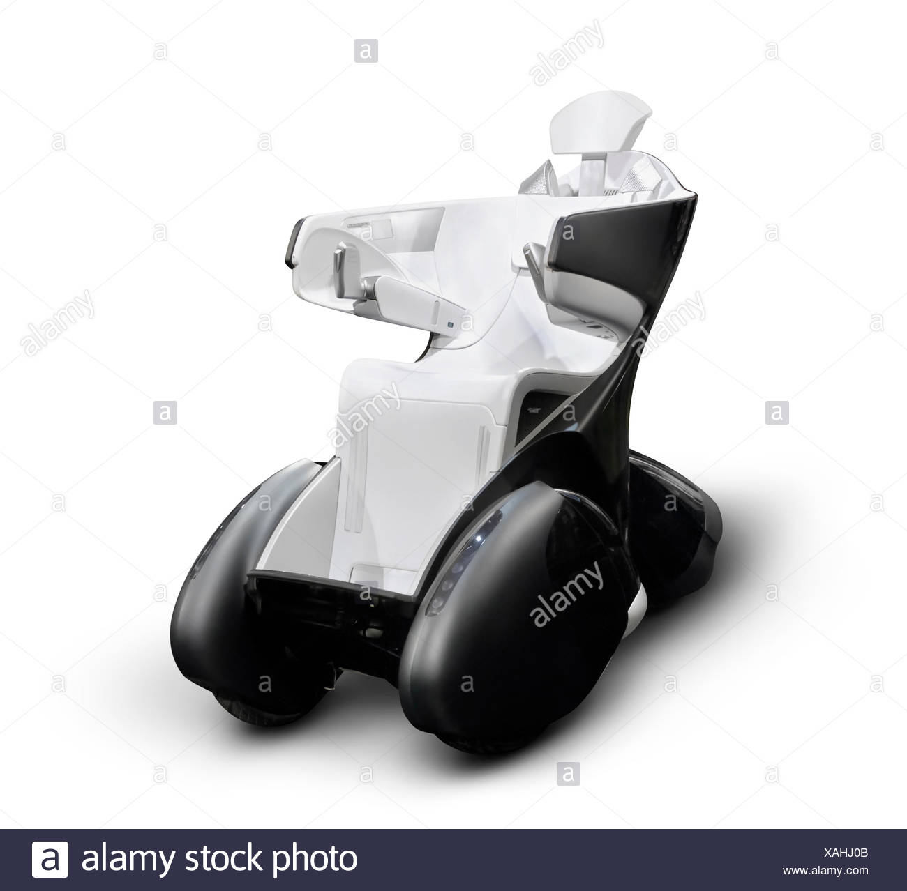 Toyota Motor Corp i-REAL motorized high-tech wheelchair - Stock Image