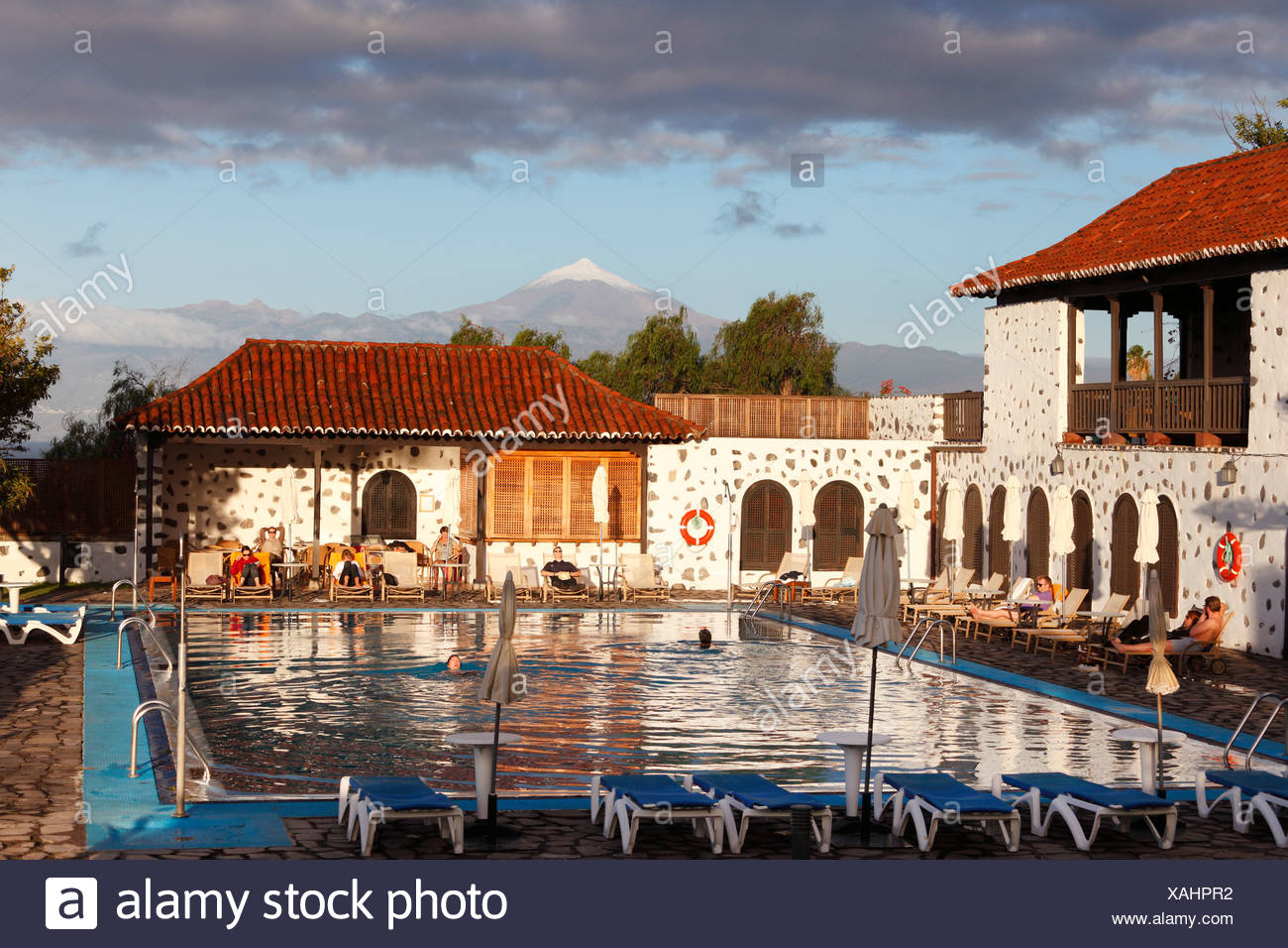 Swimming pool, Hotel Parador de Turismo Conde de La Gomera, San Sebatián de La Gomera, Canary Islands, Spain, Europe - Stock Image