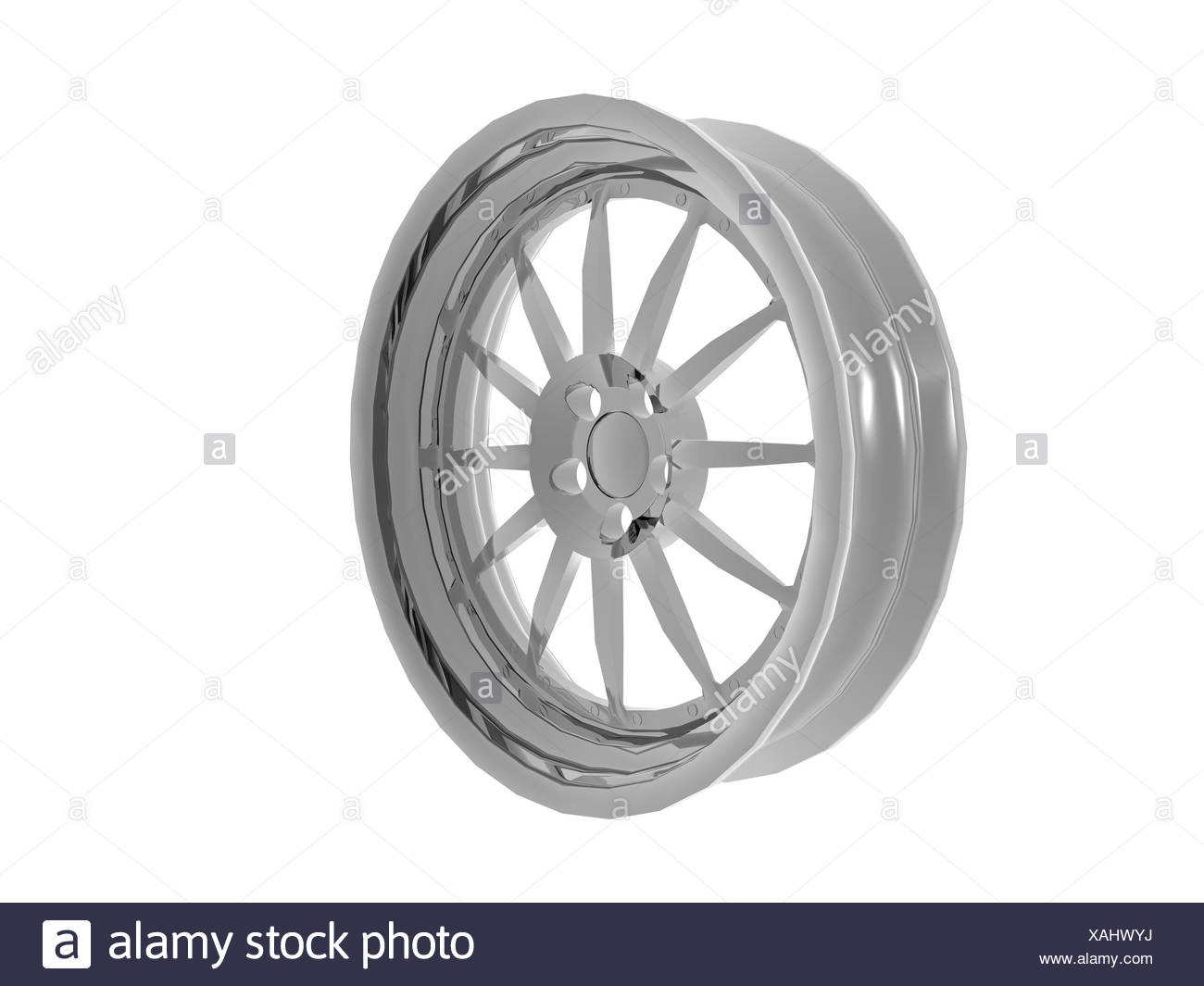 optional aluminum rims - Stock Image