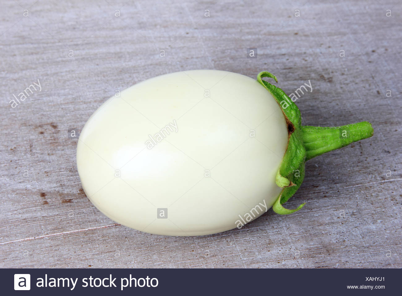 White eggplant (Solanum melongena) Stock Photo