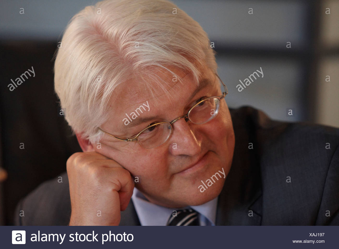 German Foreign Minister, Vice-Chancellor and SPD Chancellor Candidate Frank-Walter Steinmeier visiting Hooksiel as part of his  - Stock Image
