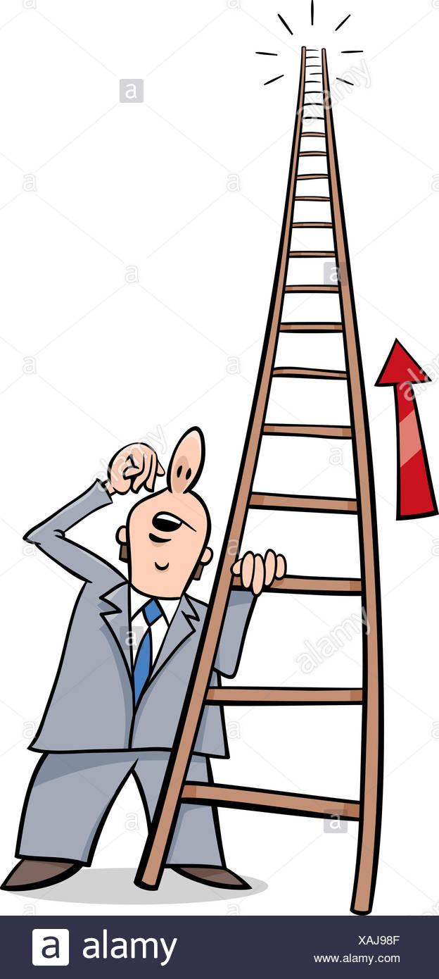 ladder of success cartoon stock photo alamy https www alamy com ladder of success cartoon image281914879 html