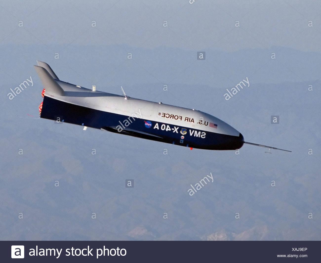 X-40 in Free Flight - Stock Image