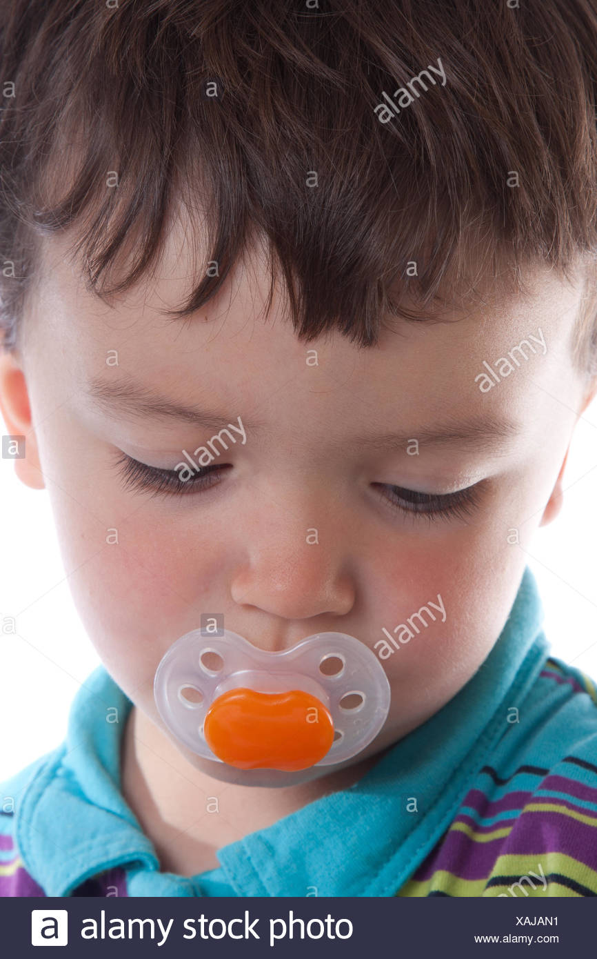 kid delighted unambitious - Stock Image