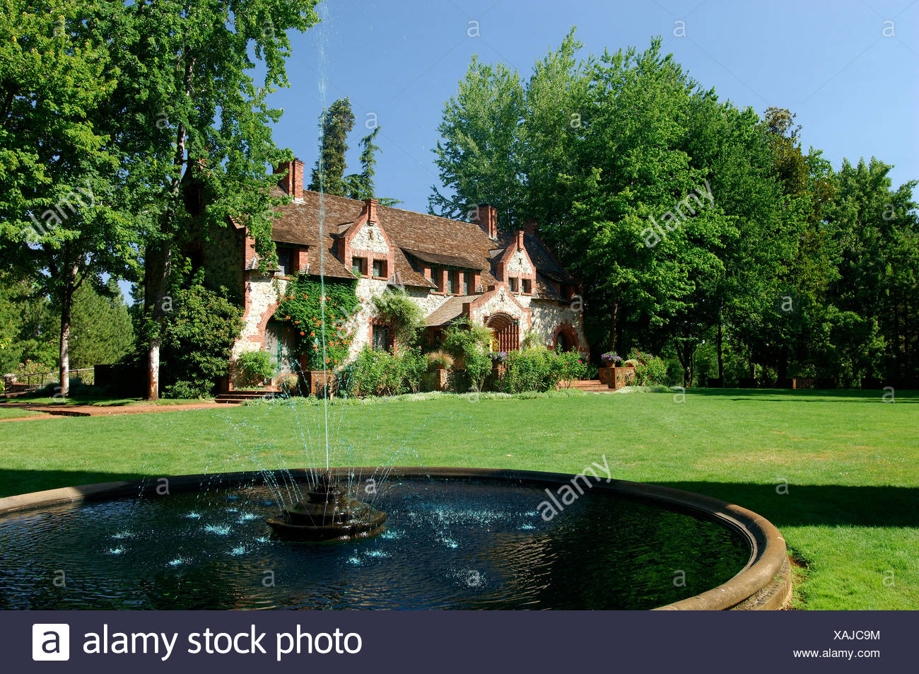 Usa Grass Valley California Empire Cottage Empire Mine State Historic Park Gold Country House Villa Park Garden United States - Stock Image