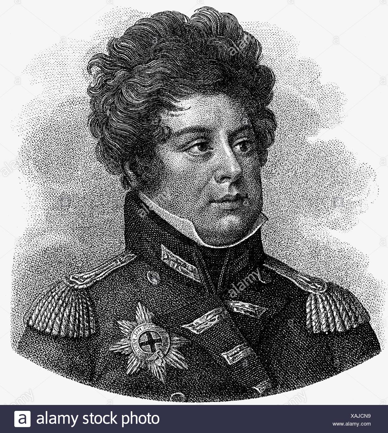 George IV, 12.8.1762 - 26.6.1830, King of Great Britain 29.1.1820 - 26.6.1830, portrait, wood engraving, 19th century, , Additional-Rights-Clearances-NA - Stock Image