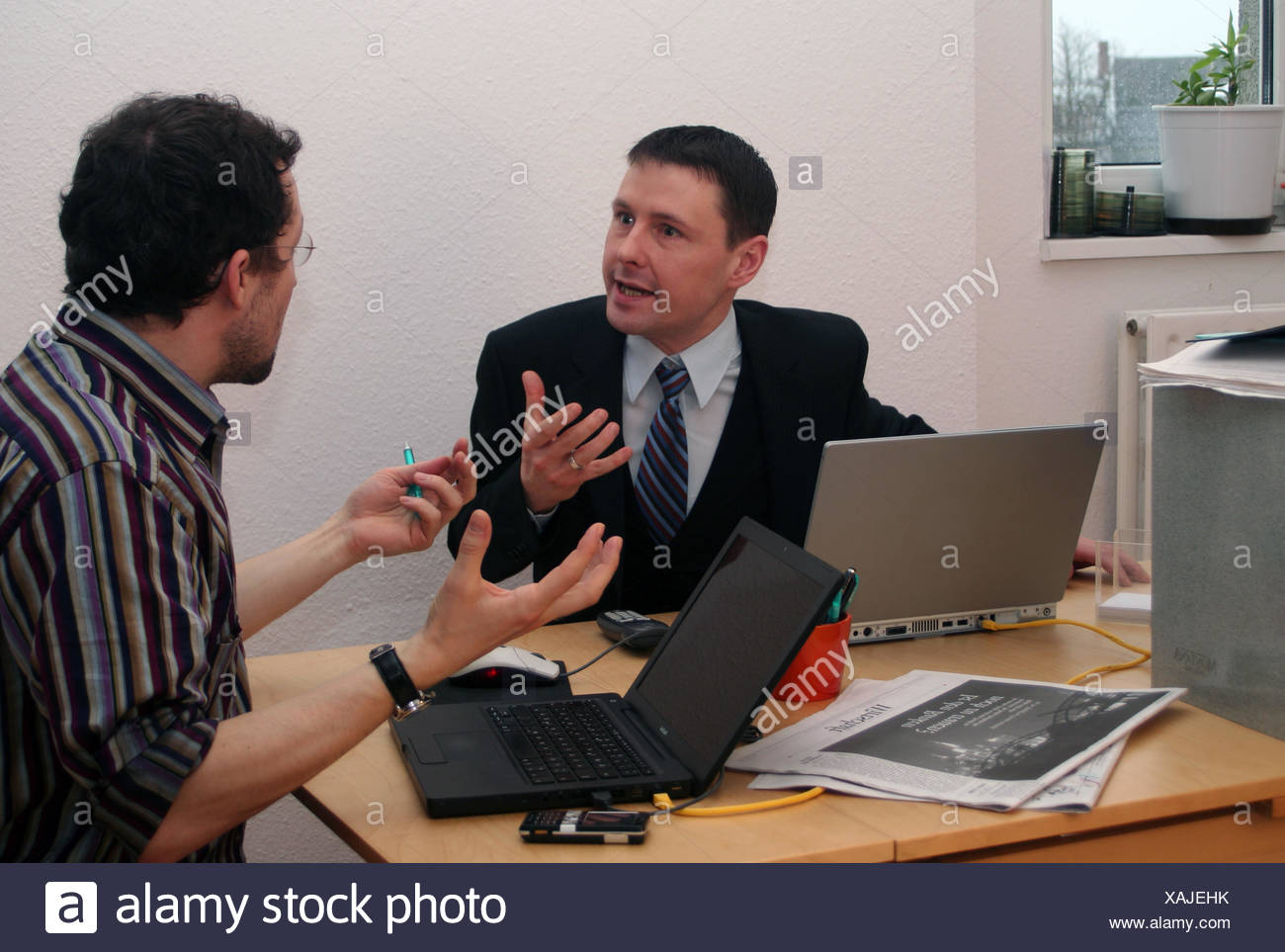 the boss is furious - Stock Image
