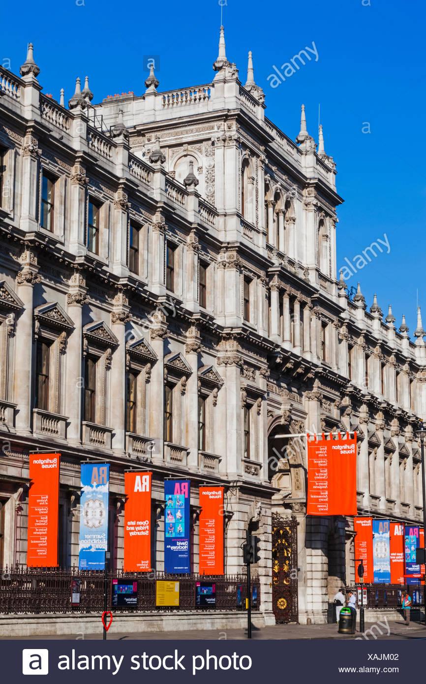 England, London, Piccadilly, Burlington House, The Royal Academy of Arts - Stock Image