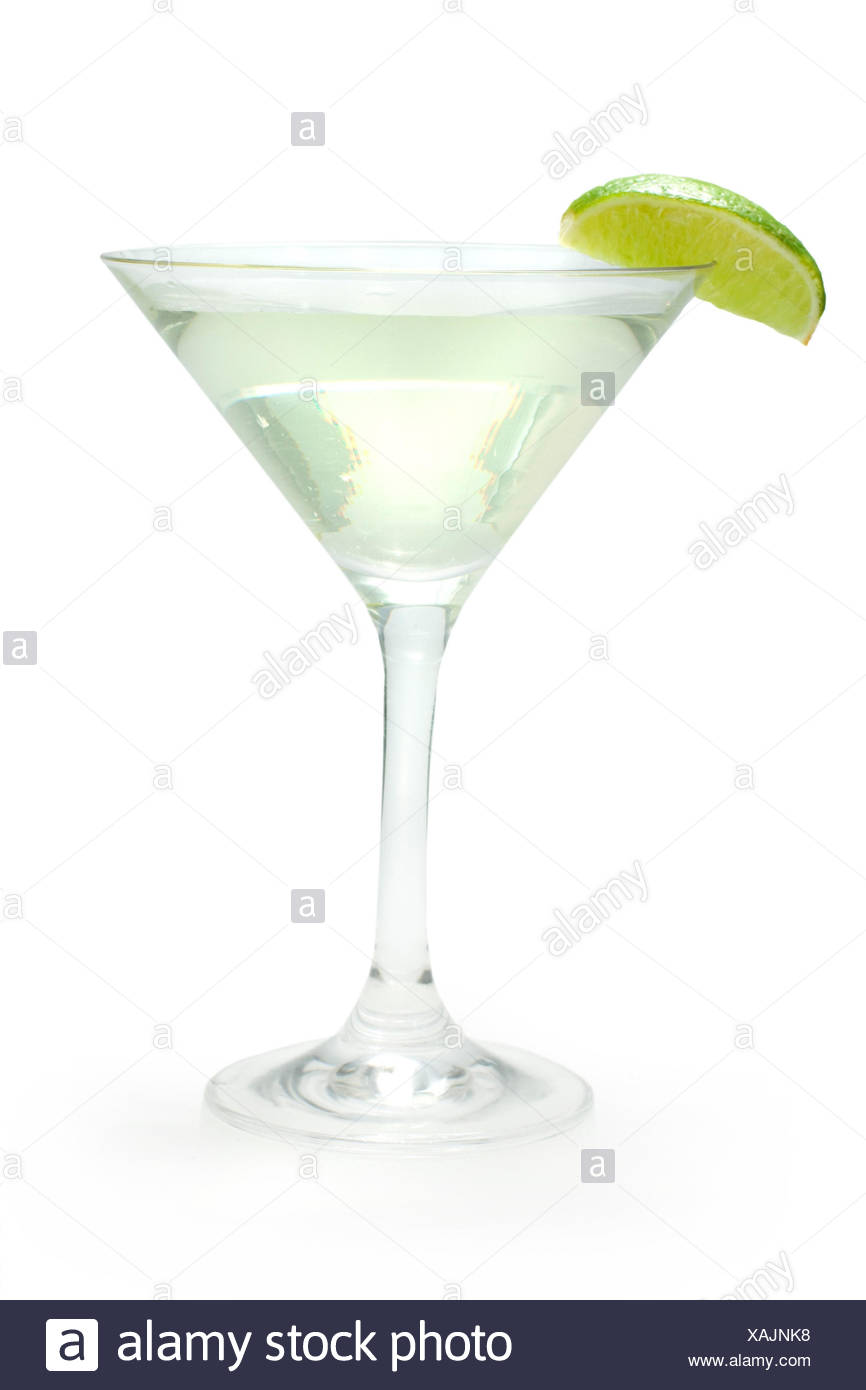Cocktail, Gimlet (gin, lime juice, lime), - Stock Image