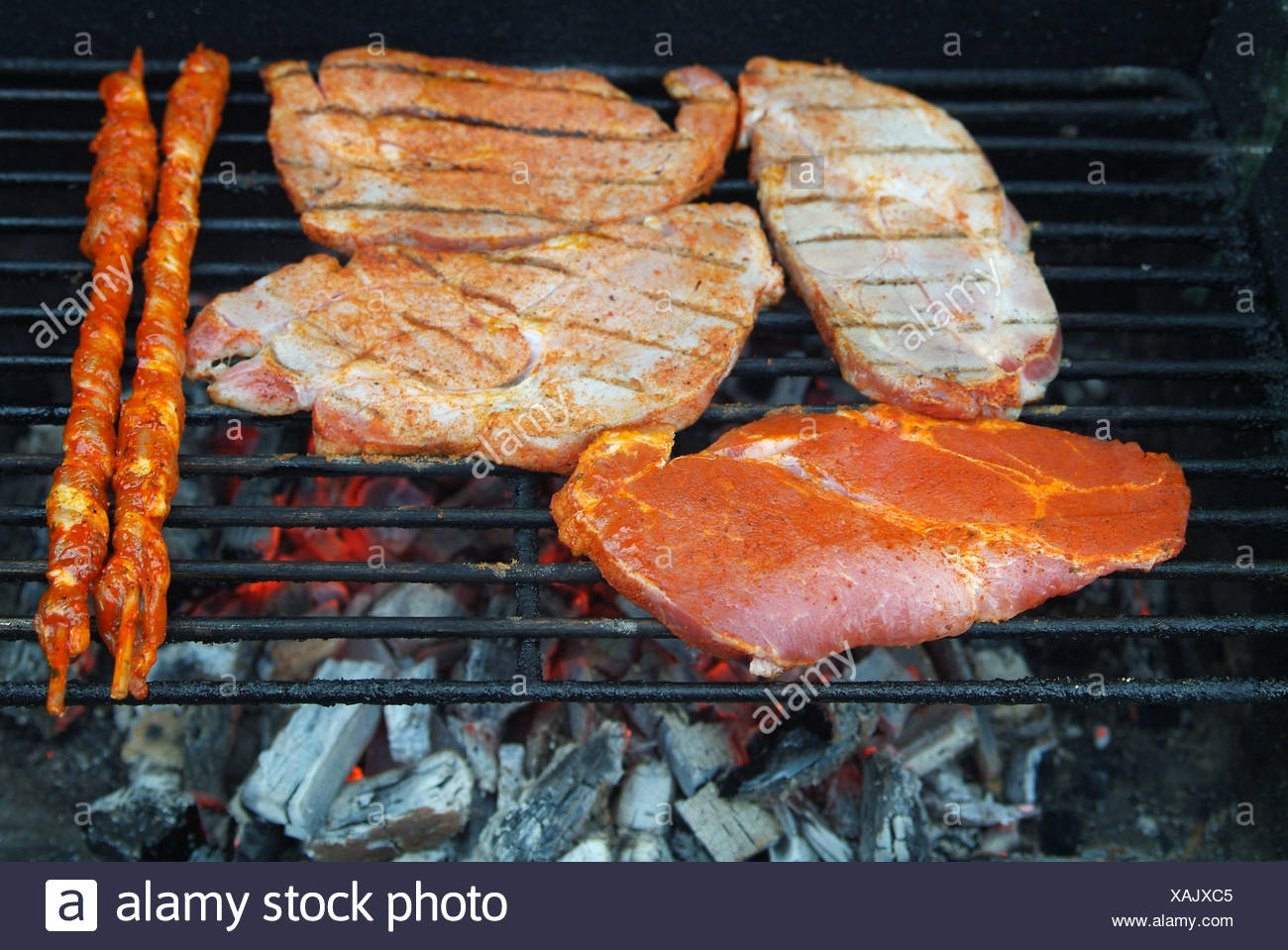 Coal Grill Barbecue Barbeque Charcoal Meat Food Aliment Kitchen Cuisine Dainty Stock Photo Alamy