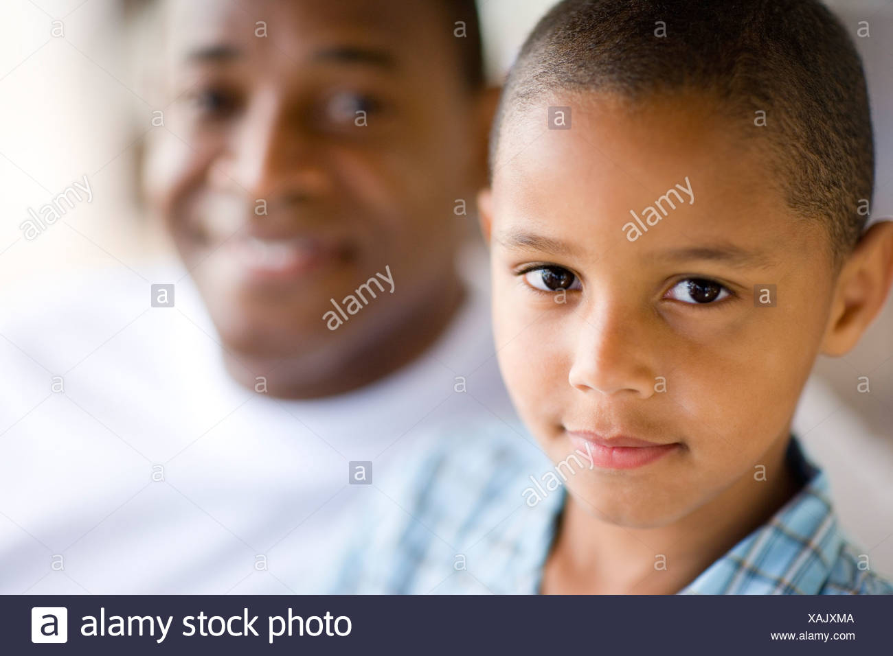 Father and son. - Stock Image
