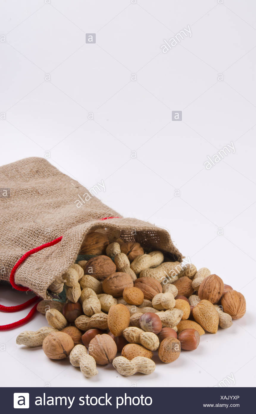 Nuts and cores Stock Photo