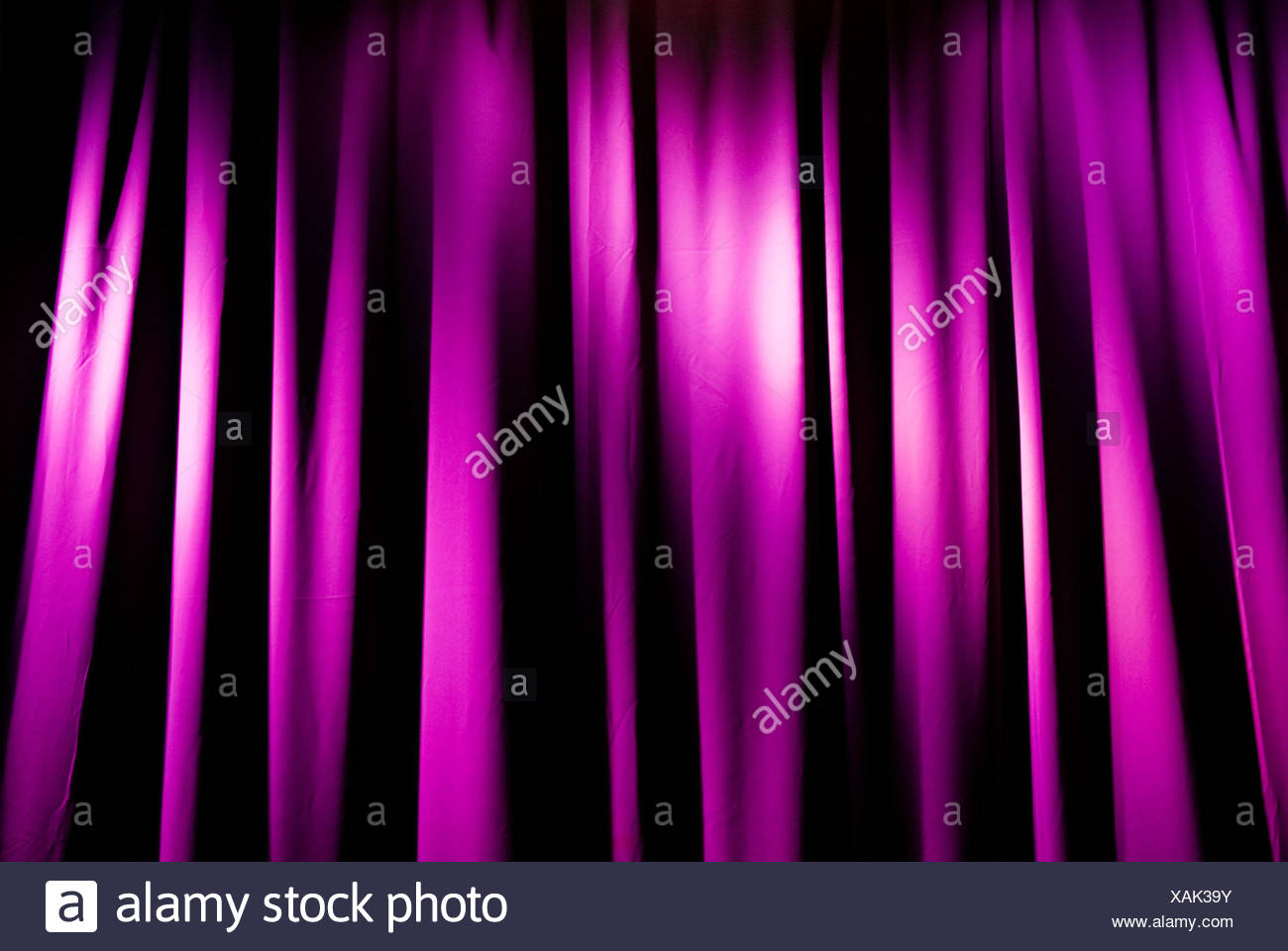 entertainment curtain colorful - Stock Image