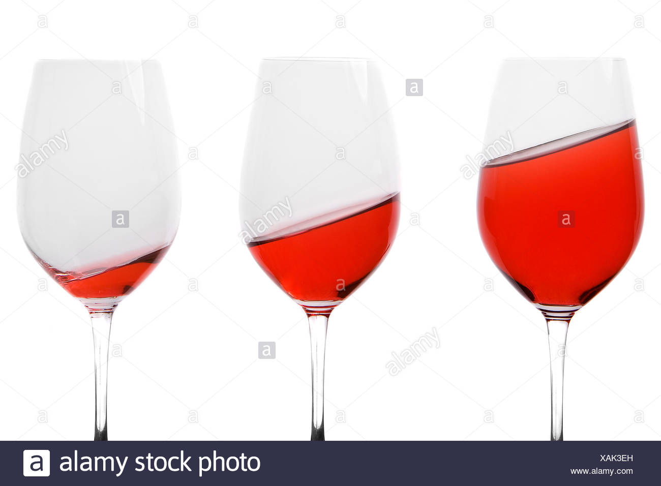 glasses skew oblique - Stock Image