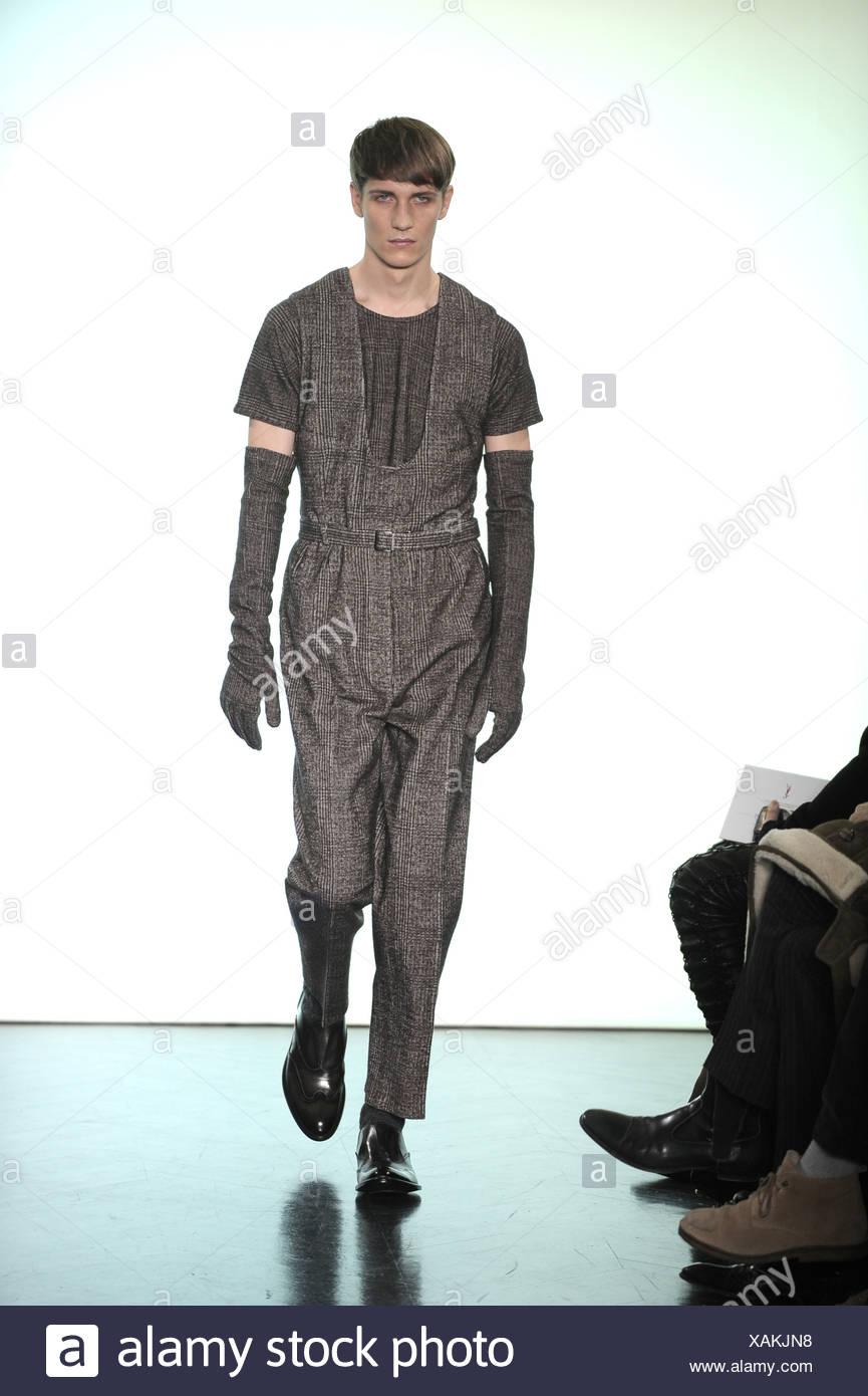 7cd5f9f3dcc Yves Saint Laurent Paris Ready to Wear Menswear Autumn Winter Grey tweed  straight legged sleeveless jumpsuit
